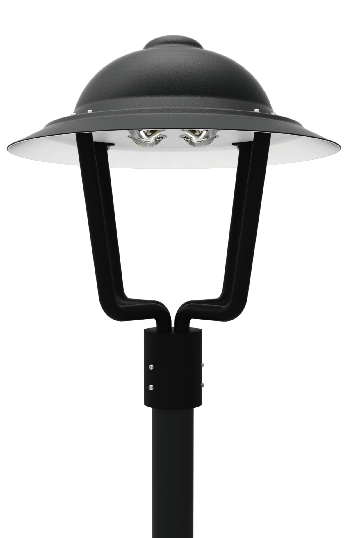 LED PT 110 Series LED Post Top Area Light Fixtures Americana Post Top Aco