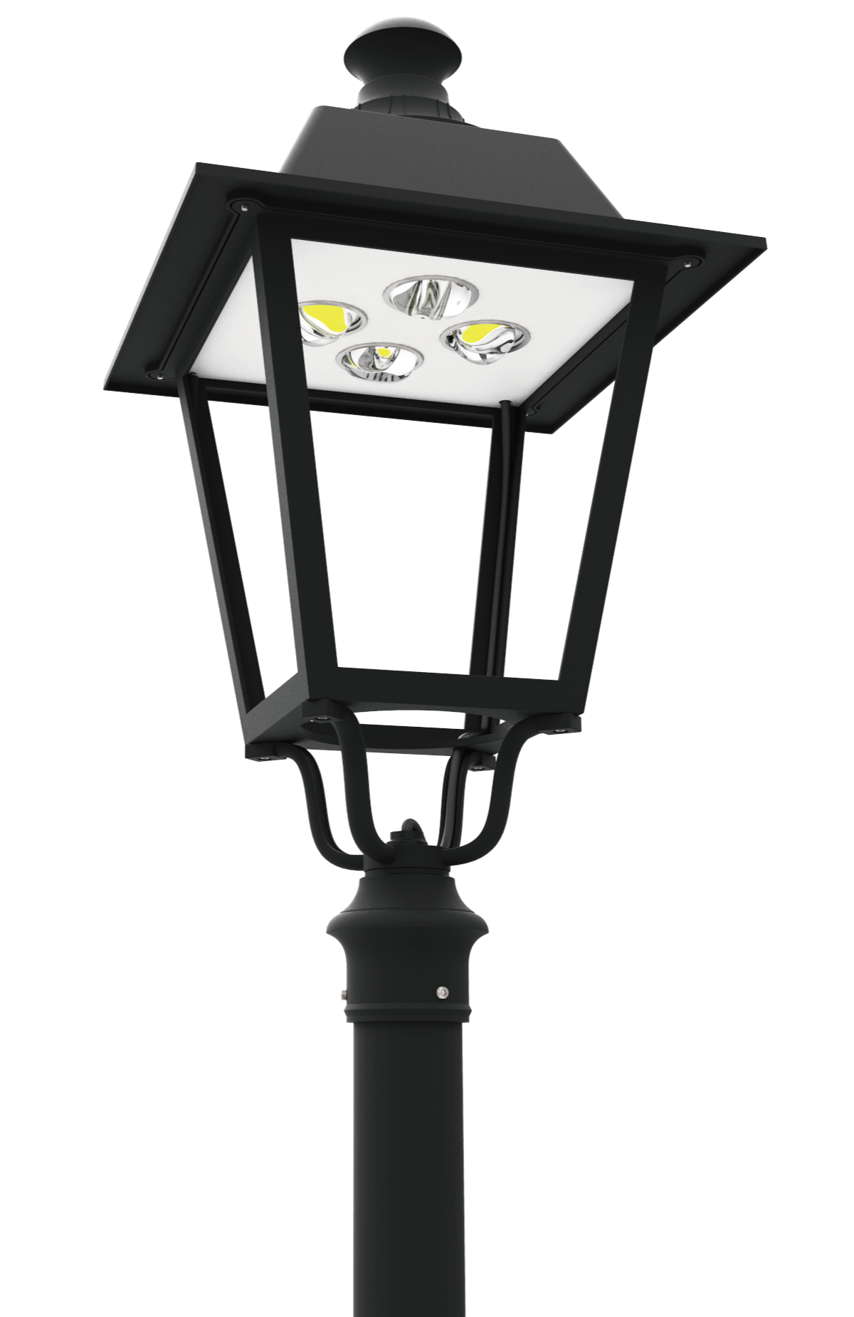 Led pt 710 series led post top lantern light fixtures Popular light fixtures 2017