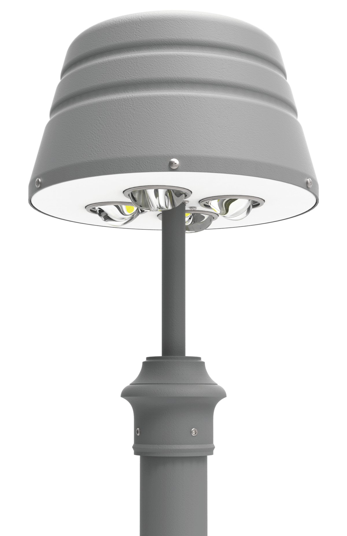 Led pt 1201 series led post top light fixtures outdoor custom finished colors mozeypictures Choice Image