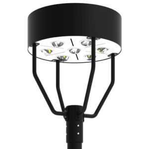 LED-AREA-1901 Series, 19 Inch Round LED Area Post Top Lighting Fixtures - 30W, 40W, 50W, 60W, 80W, 100W, 120W, 150W, 180W, 200W, 240W, 320W