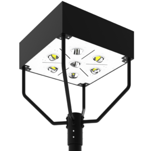 LED-AREA-1902 Series, 19 Inch Square LED Area Post Top Lighting Fixtures - 30W, 40W, 50W, 60W, 80W, 100W, 120W, 150W, 180W, 200W, 240W, 320W