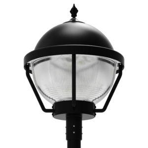LED-AREA-1903 Series, 19 Inch Round LED Area Post Top Lighting Fixtures - 60 Watts, 80 Watts, 100 Watts, 120 Watts, 150 Watts, 180 Watts, 200 Watts, 240 Watts, 320 Watts, 2700K 3000K 4000K 5000K 5700K 6000K - 120VAC, 277VAC, 347VAC, 380VAC, 480VAC, 500VAC